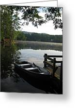 Lake Vanare Greeting Card by Lali Partsvania