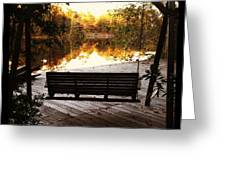 Lake View Greeting Card