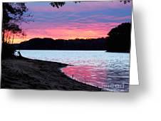 Lake View Sunset Greeting Card