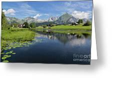 Lake Vorderer Schwendisee Greeting Card