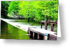 Lake Waccamaw Dam Greeting Card