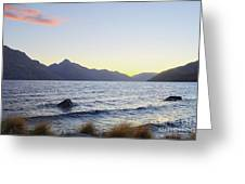 Lake Wakatipu At Sunset Greeting Card
