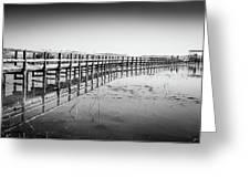 Lake Walkway Greeting Card by Gary Gillette
