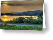 Lake Washington And Route 209 Greeting Card