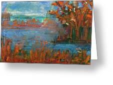Lake Washington Fall Colors Greeting Card