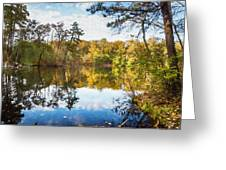 Lake Waterford Fall - Watercolor Fx Greeting Card