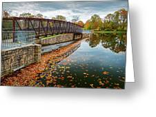 Lake Waterford Fall Waterscape Greeting Card