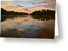 Lake Wedowee Alabama At Sunset Greeting Card