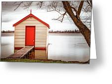 Lake Wendourie Boathouse Greeting Card