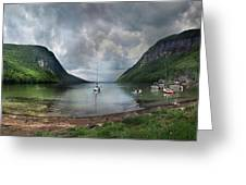 Lake Willoughby  Panorama One Greeting Card