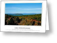 Lake Winnipesaukee - Fall Greeting Card by Jim McDonald Photography