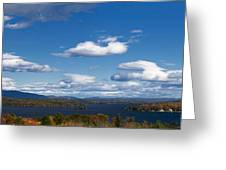 Lake Winnipesaukee New Hampshire In Autumn Greeting Card