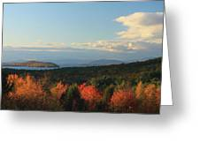 Lake Winnipesaukee Overlook In Autumn Greeting Card