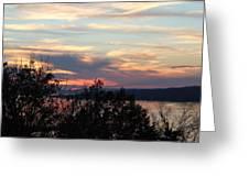 Lakefront Sunset Greeting Card