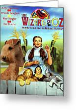 Lakeland Terrier Art Canvas Print - The Wizard Of Oz Movie Poster Greeting Card