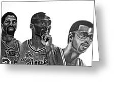 Laker Greats Greeting Card by Keeyonardo