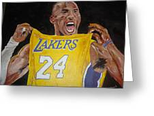 Lakers 24 Greeting Card by Daryl Williams Jr