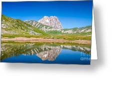 Lakes And Peaks Greeting Card