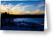 Lakeshore Nights Greeting Card