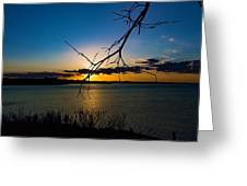 Lakeshore Sunset Greeting Card