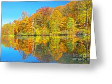 Lakeside Autumn Reflections Nj Greeting Card