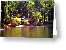 Lakeside Cabin In Idaho Usa Greeting Card