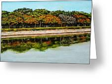 Lakeside Joggers Path Greeting Card