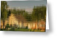 Lakeside Living On Wiggins Lake - Abstract Greeting Card