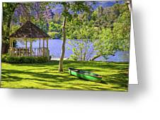Lakeside Relaxation Greeting Card