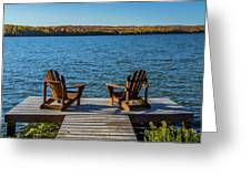 Lakeside Seating For Two Greeting Card