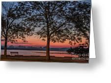 Lakeside Sunrise Greeting Card