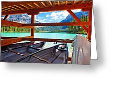 Lakeview From The Boathouse Greeting Card