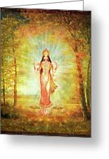 Lakshmi Vision In The Forest  Greeting Card