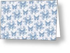Lalabutterfly Blue Wedgewood Reverse Greeting Card