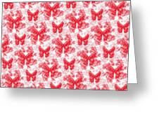 Lalabutterfly Red And White Greeting Card