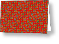 Lalabutterfly Red Reduced Scale Greeting Card