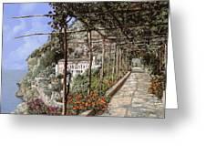 L'albergo Dei Cappuccini-costiera Amalfitana Greeting Card by Guido Borelli