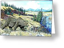 Lamar Valley Grizz Greeting Card