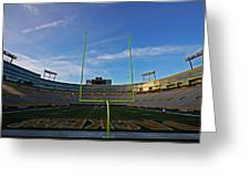 Lambeau Endzone Greeting Card