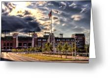 Lambeau Field Awakes Greeting Card by Joel Witmeyer