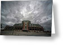 Lambeau Field Clouds Greeting Card