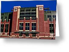 Lambeau Field Green Bay Packers Greeting Card
