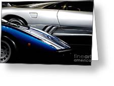 Lamborghini Countach And Lamborghini Diablo Greeting Card