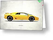 Lamborghini Diablo 88 Greeting Card