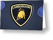 Lamborghini Emblem Greeting Card