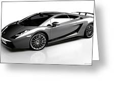 Lamborghini Galardo Superleggera Greeting Card