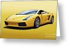 Lamborghini Gallardo 'banana Republic' II Greeting Card