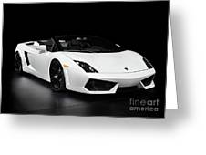 Lamborghini Gallardo Lp560-4 Spyder Greeting Card