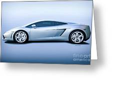 Lamborghini Gallardo 'profile Of Terror' Greeting Card