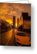 Lamborghini Sunrise Greeting Card